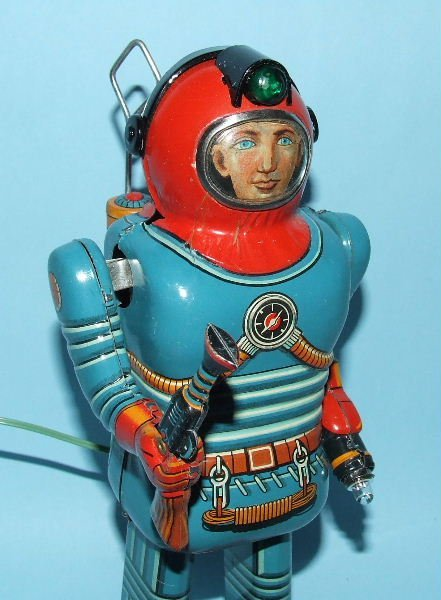 85: SONSCO NOMURA SPACE MAN ROBOT TIN BO TOY & BOX - 6