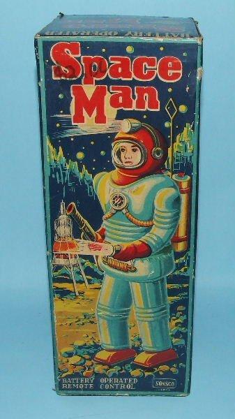 85: SONSCO NOMURA SPACE MAN ROBOT TIN BO TOY & BOX - 9