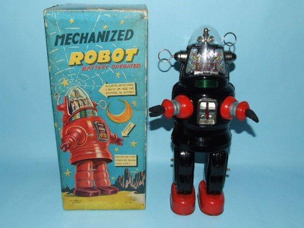 88: TN NOMURA MECHANIZED ROBBY ROBOT TIN TOY & BOX