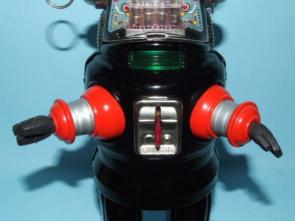 88: TN NOMURA MECHANIZED ROBBY ROBOT TIN TOY & BOX - 5