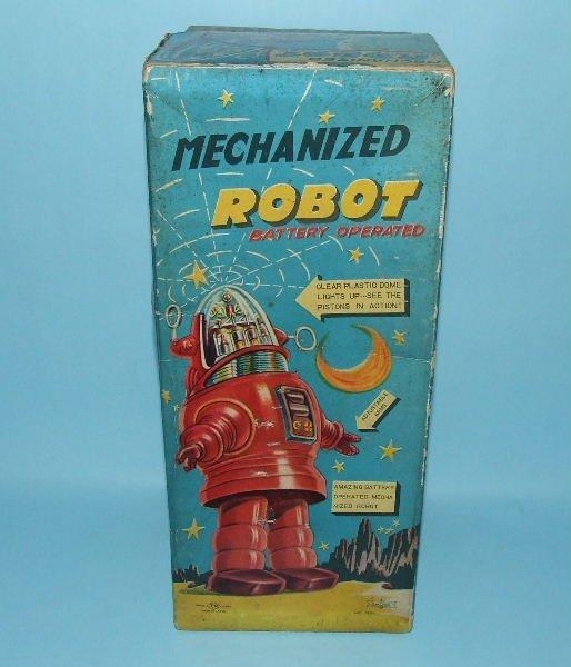 88: TN NOMURA MECHANIZED ROBBY ROBOT TIN TOY & BOX - 7