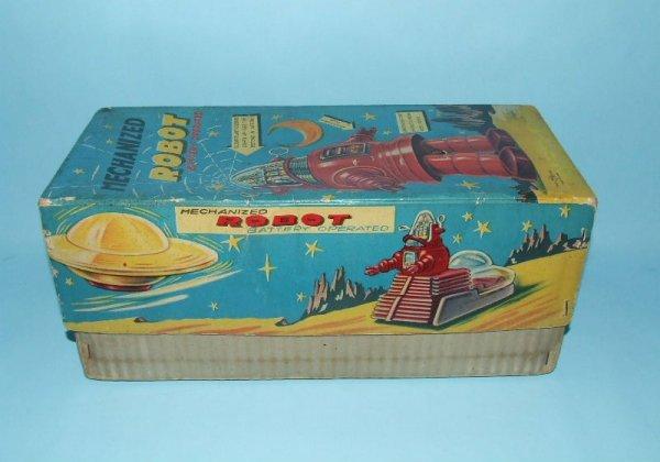 88: TN NOMURA MECHANIZED ROBBY ROBOT TIN TOY & BOX - 8