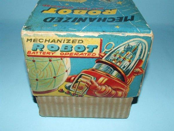 88: TN NOMURA MECHANIZED ROBBY ROBOT TIN TOY & BOX - 9