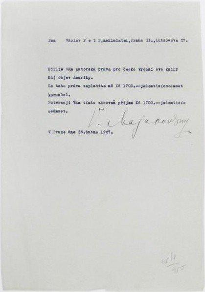 5:   MAYAKOVSKY, Vladimir : signed contract