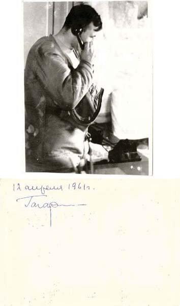 8:   GAGARIN, Yuri:  Signed Flight Day Photo