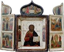 111: Russian Icon Tryptich, XVIIc.