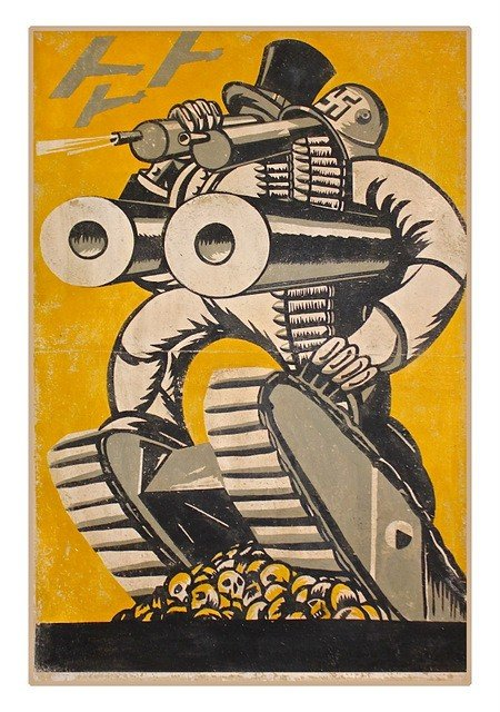 1: [ROZE, G.] Arms Race, Artwork for Poster, c. 1935