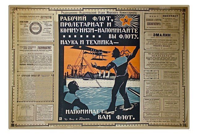 58: (Trotsky) Workers Fleet . . ., Morkom Poster, 1922