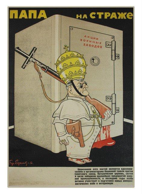59: EFIMOV, B. The Pope on Sentry Duty, 1932
