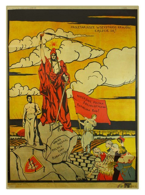 22: ANONYMOUS ARTIST.Long Live the Polish Soviet..1920