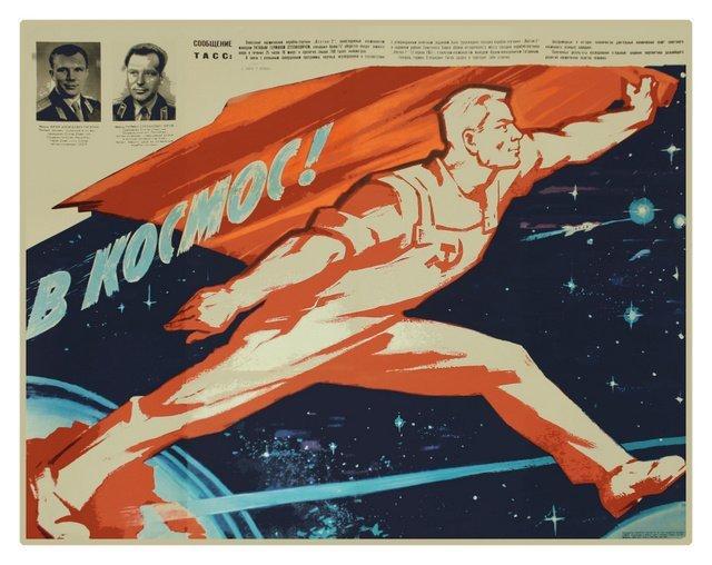 "131: DEMENTIEV, R. To Space!, 1961 ""emergency"" poster"