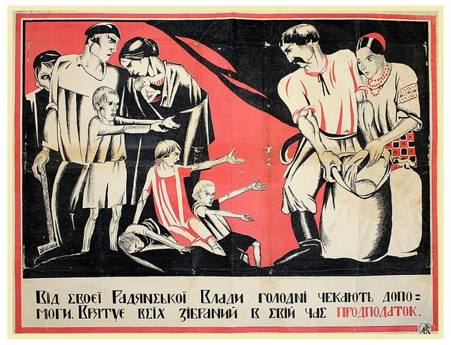 ANONYMOUS ARTIST. Hungry Expect Help from Their Soviet