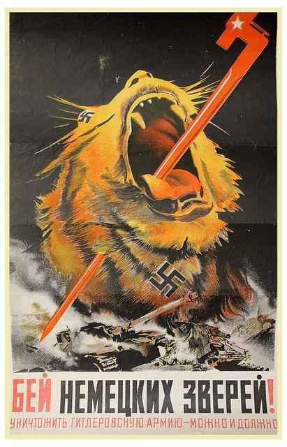 KLIMASHIN, V. Beat the German Beasts!, 1943.