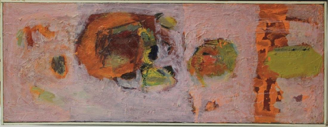 SIGNED ABSTRACT, OIL ON CANVAS, 1964