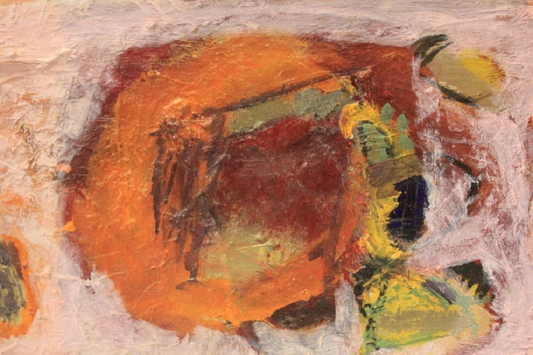 SIGNED ABSTRACT, OIL ON CANVAS, 1964 - 2
