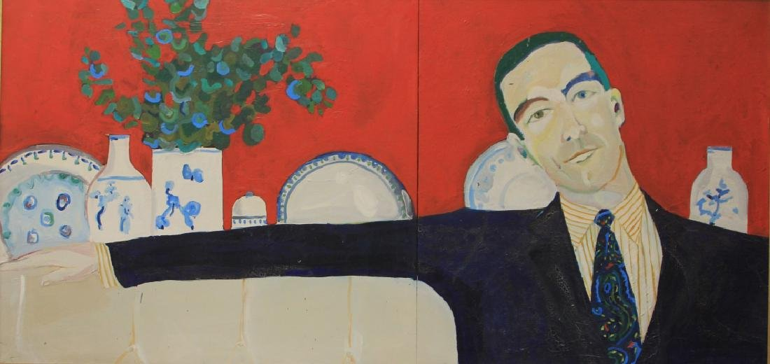 IRA YEAGER (B. 1938), OIL ON CANVAS