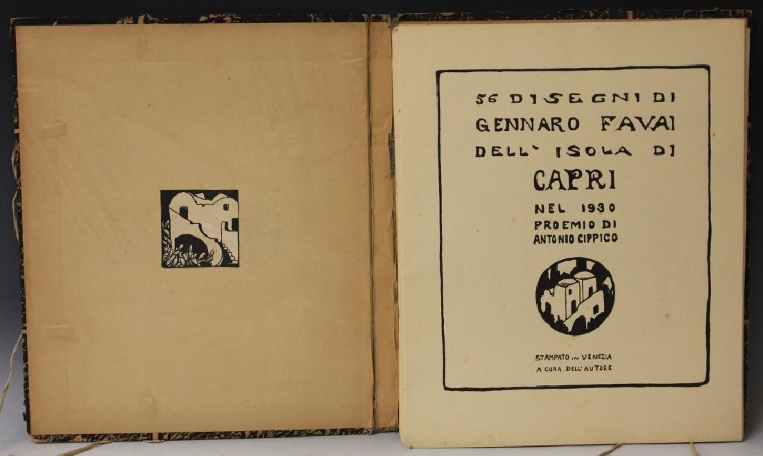 FAVAI GENNARO(1879-1958), ISOLA DI CAPRI PORTFOLIO - 2
