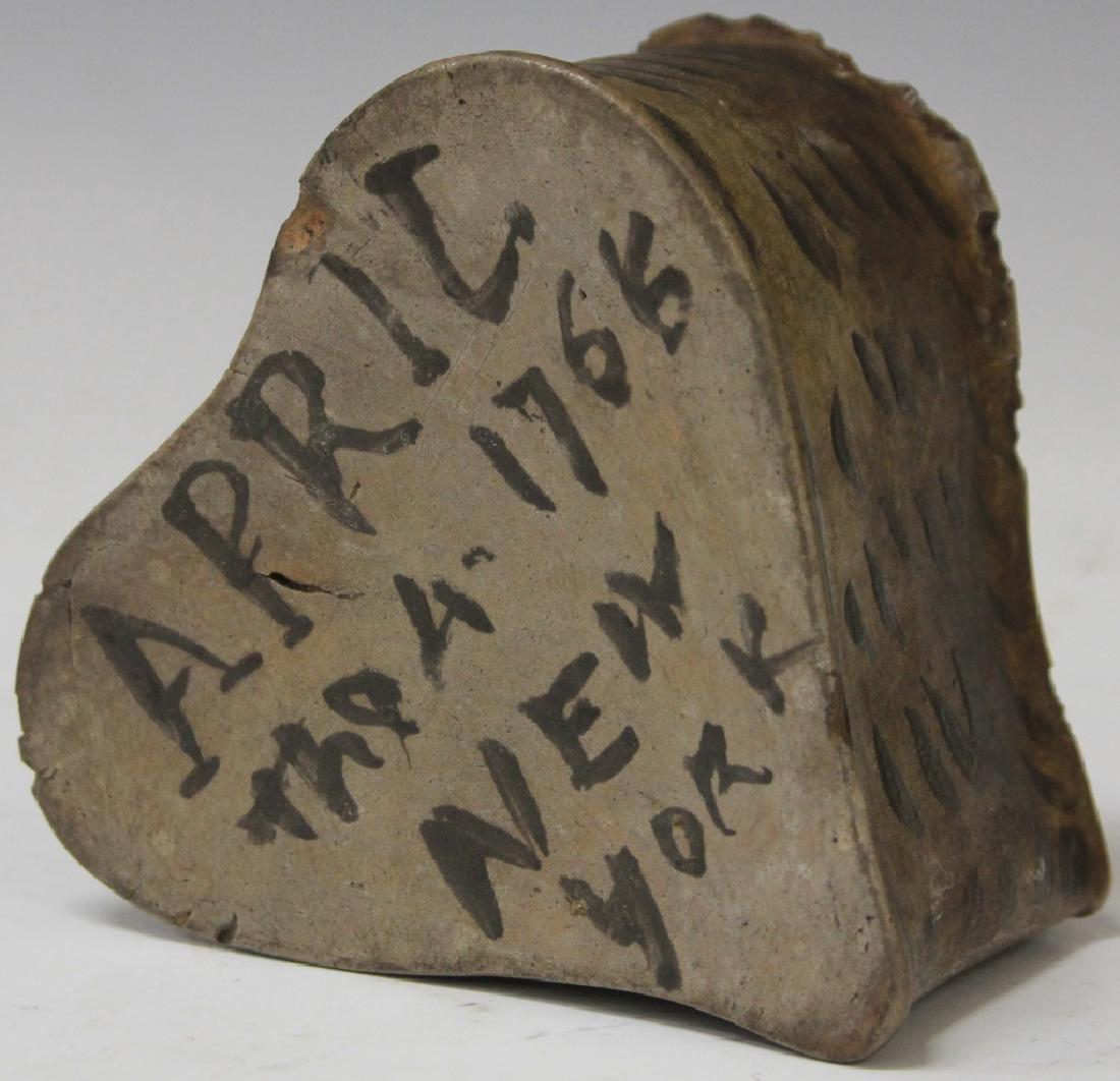 "AMERICAN INKWELL, ""NEW YORK 1766,"" 18TH CENTURY"