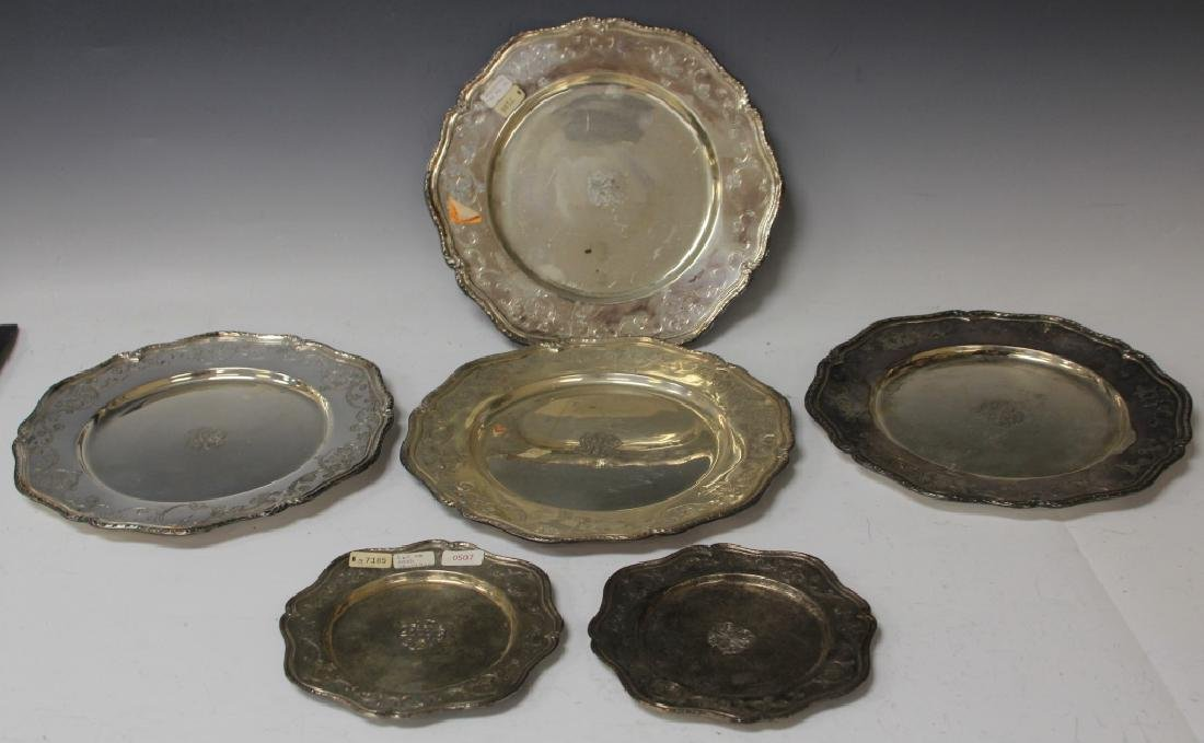 LOT OF (6) SHREVE & CO. STERLING SILVER TRAYS
