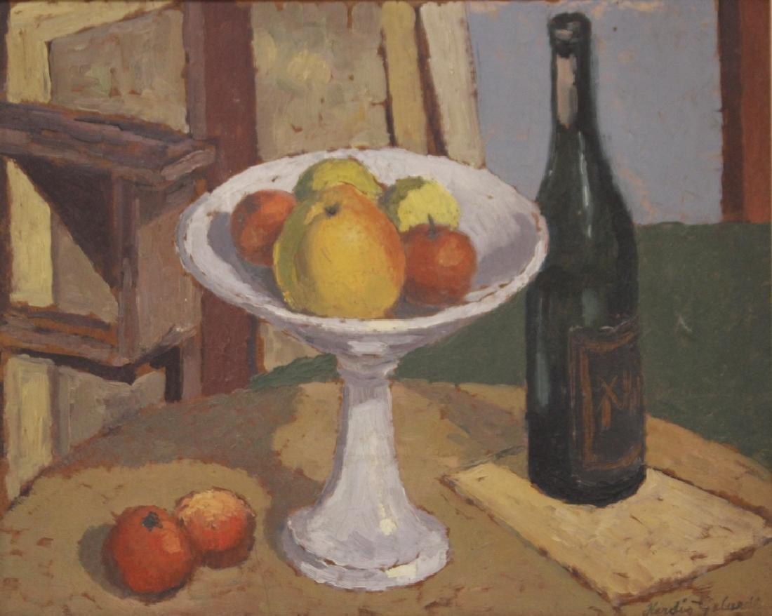 HERDIS GELARDI (DANISH 1916-1991), OIL ON BOARD