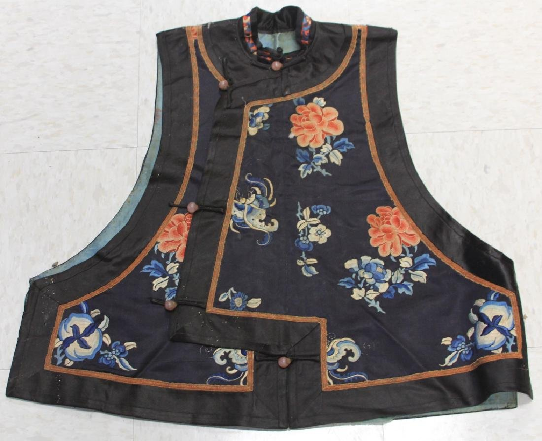 LOT OF (2) CHINESE EMBROIDERED VESTS - 6