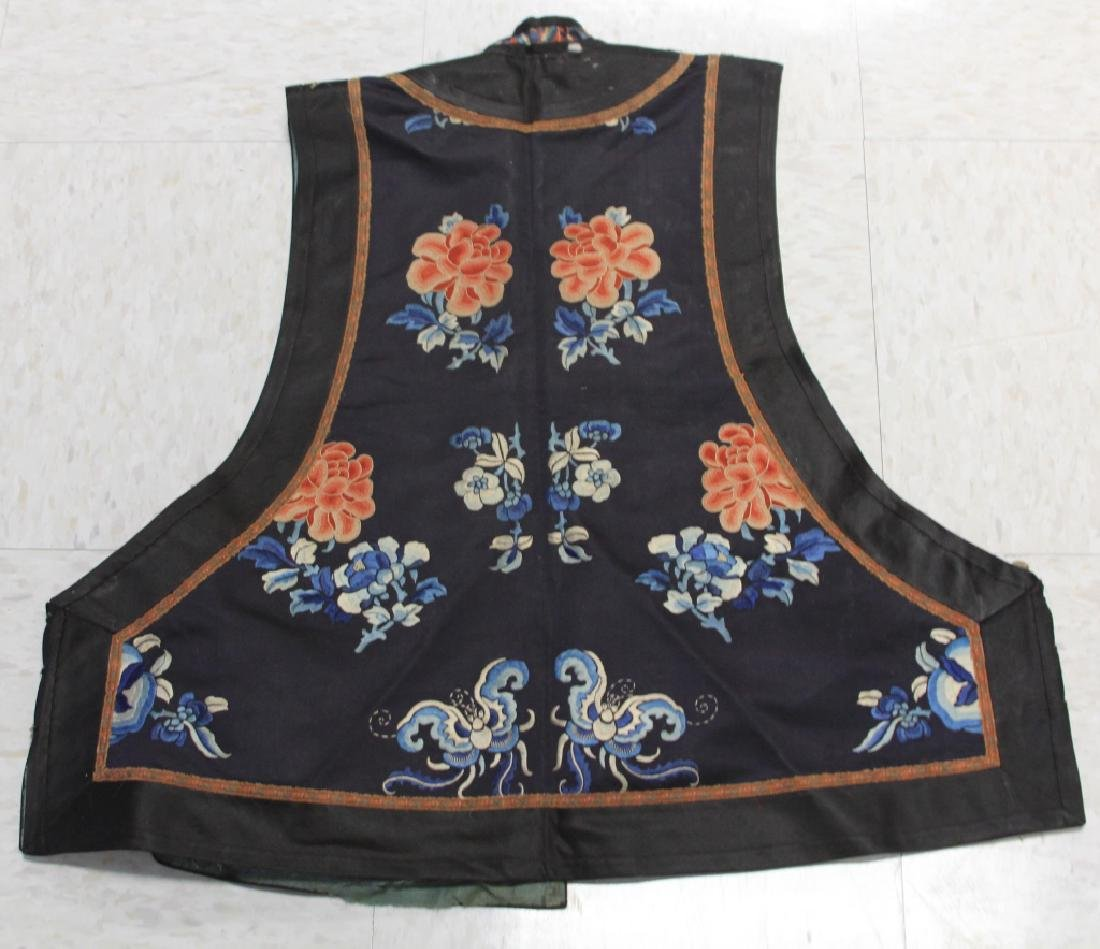 LOT OF (2) CHINESE EMBROIDERED VESTS - 8