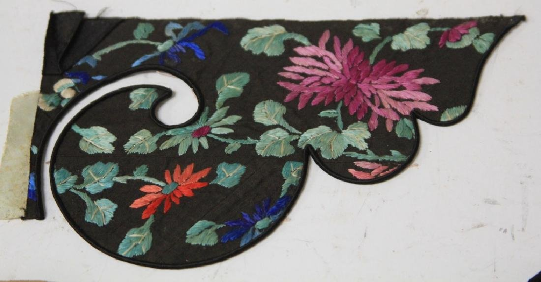 LOT OF (4) CHINESE EMBROIDERED TAPESTRIES - 3