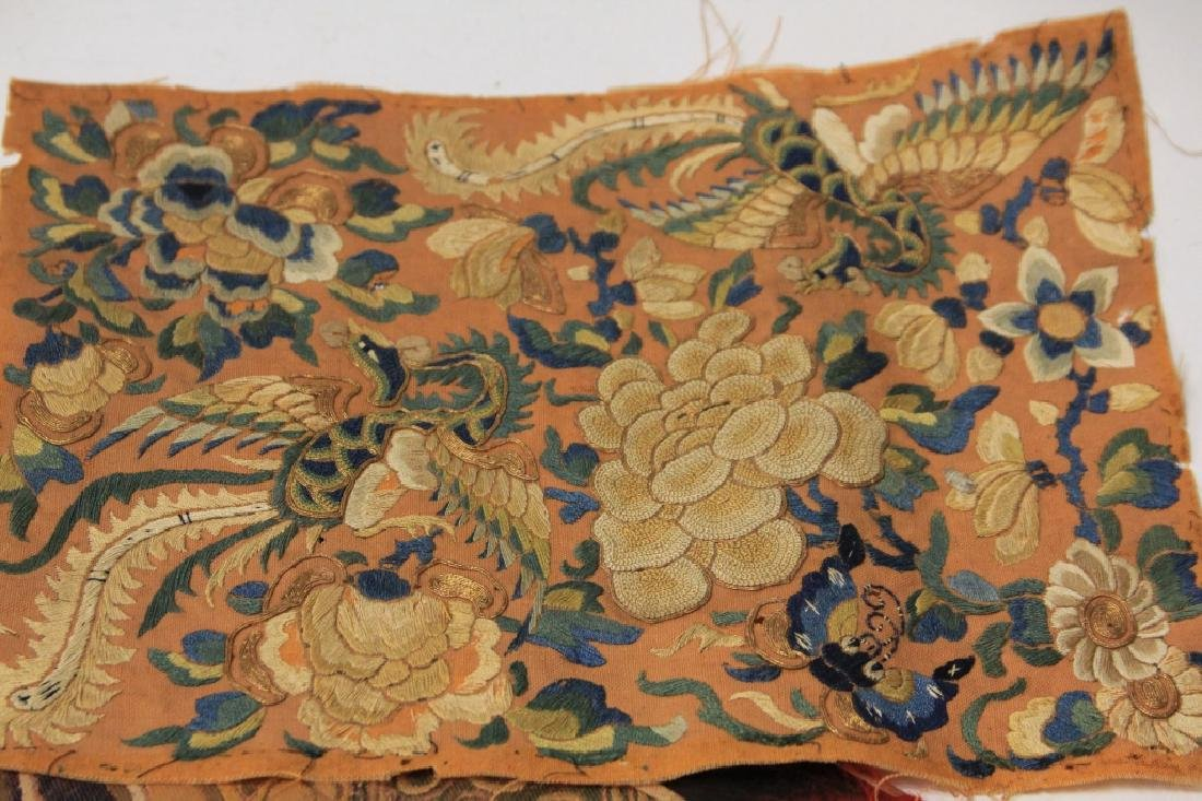 LOT OF (4) CHINESE EMBROIDERED TAPESTRIES - 4