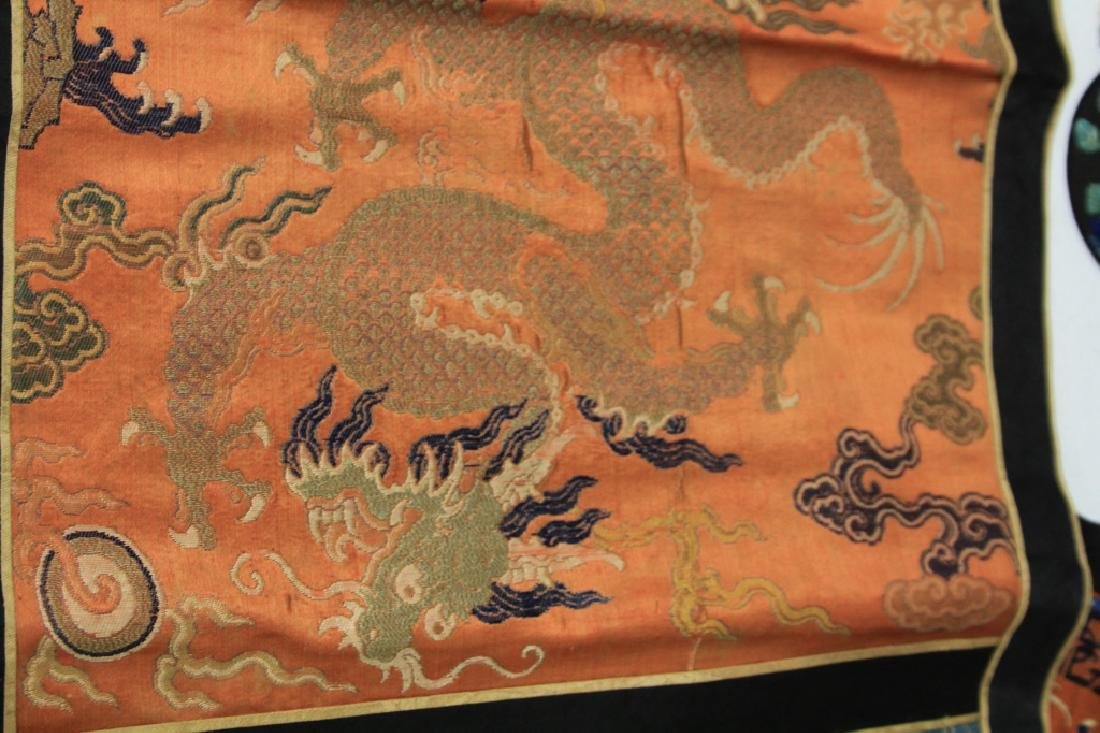 LOT OF (4) CHINESE EMBROIDERED TAPESTRIES - 5