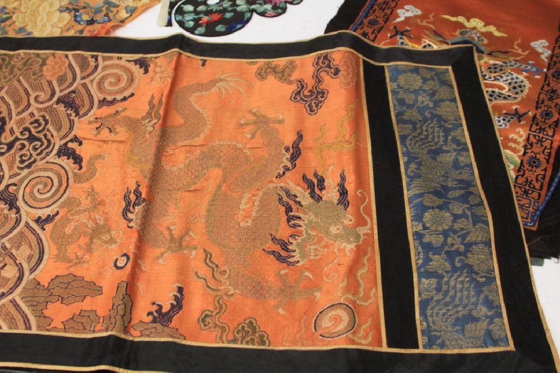 LOT OF (4) CHINESE EMBROIDERED TAPESTRIES - 6