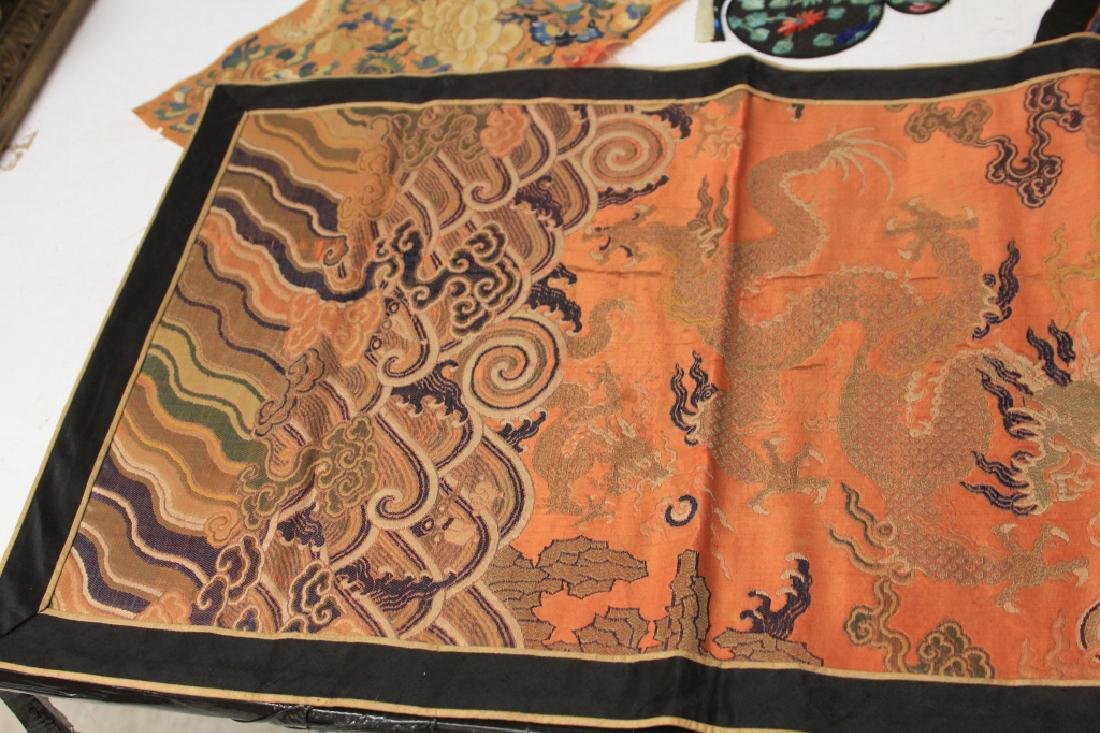 LOT OF (4) CHINESE EMBROIDERED TAPESTRIES - 7