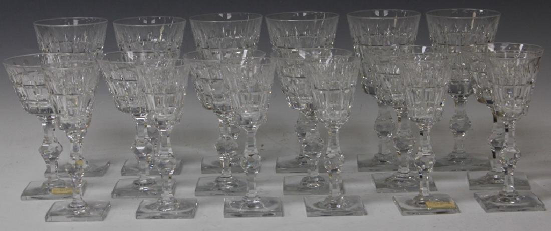 LOT OF (18) CRYSTAL STEMWARE