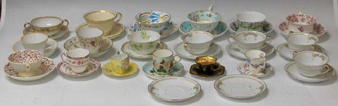LOT OF (21) VINTAGE TEA CUPS AND SAUCERS