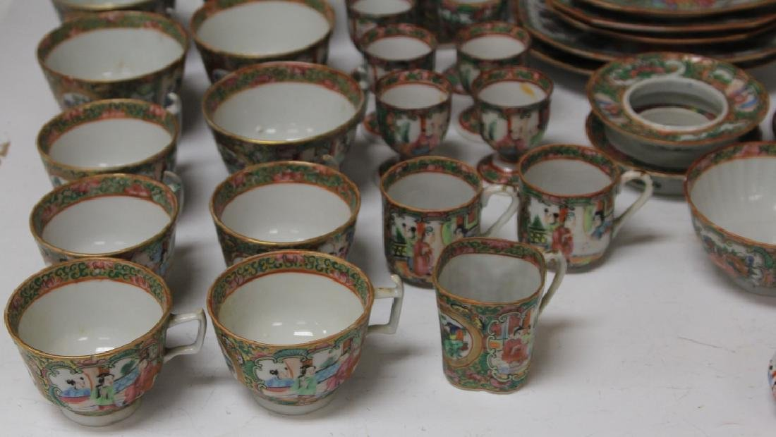 LOT OF (67) 19TH CENTURY ROSE CANTON CHINA SERVICE - 2