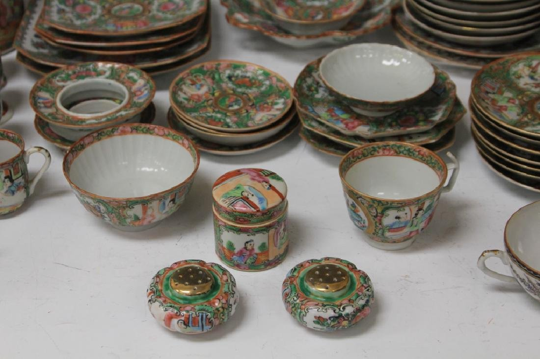 LOT OF (67) 19TH CENTURY ROSE CANTON CHINA SERVICE - 3