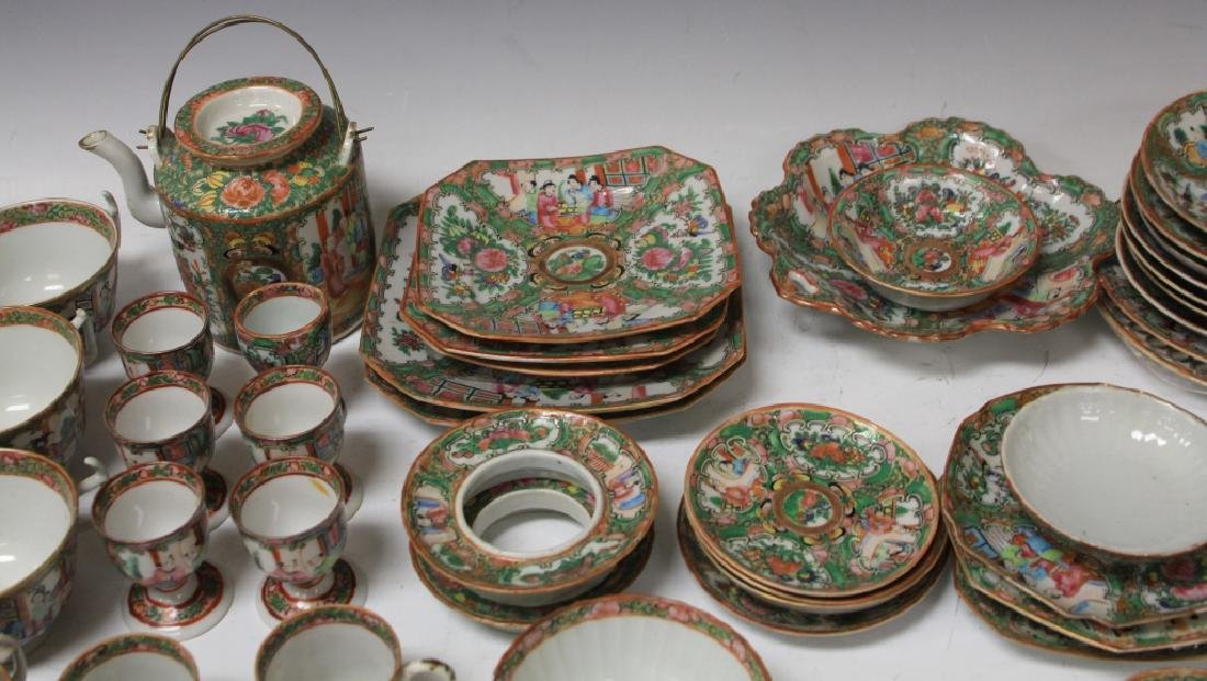 LOT OF (67) 19TH CENTURY ROSE CANTON CHINA SERVICE - 4