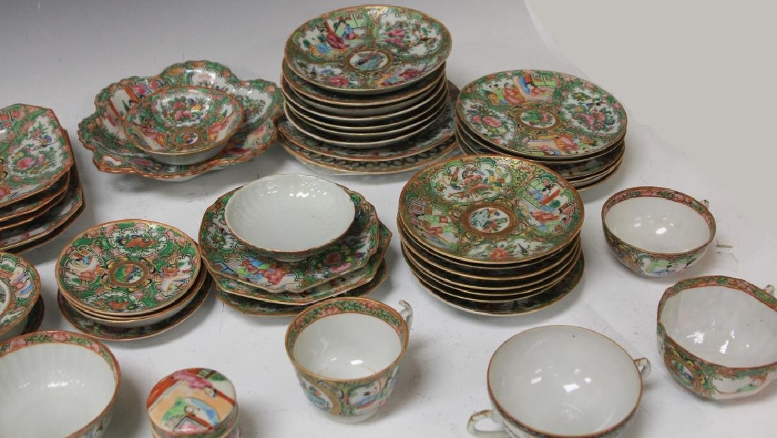LOT OF (67) 19TH CENTURY ROSE CANTON CHINA SERVICE - 5