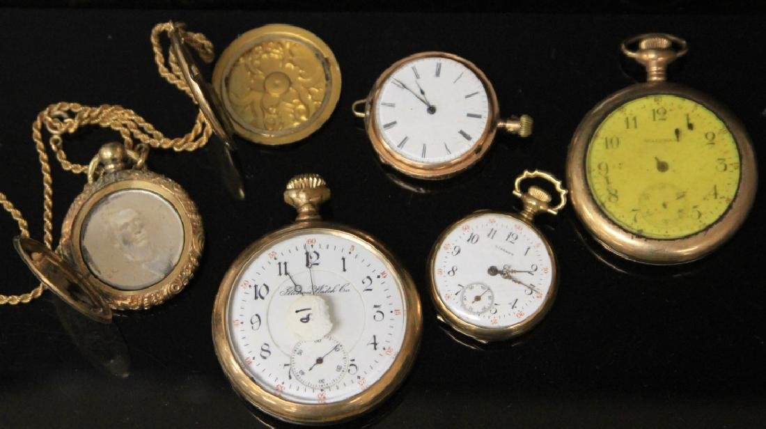 LOT OF (6) POCKETWATCHES AND CASES