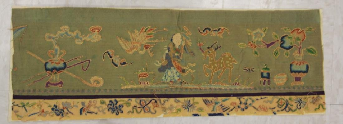 LOT OF (5) CHINESE EMBROIDERED TAPESTRIES - 4