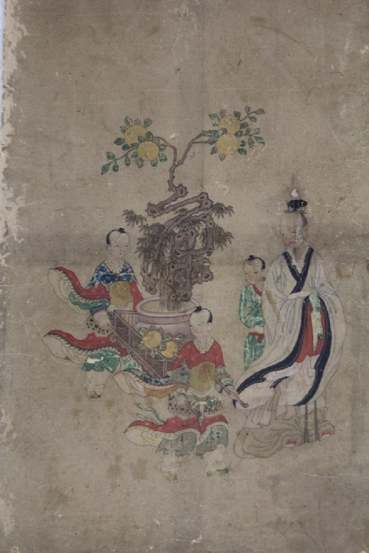 LOT OF (3) CHINESE 16TH CENTURY PAINTINGS - 2