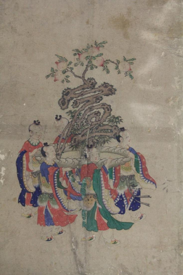 LOT OF (3) CHINESE 16TH CENTURY PAINTINGS - 3