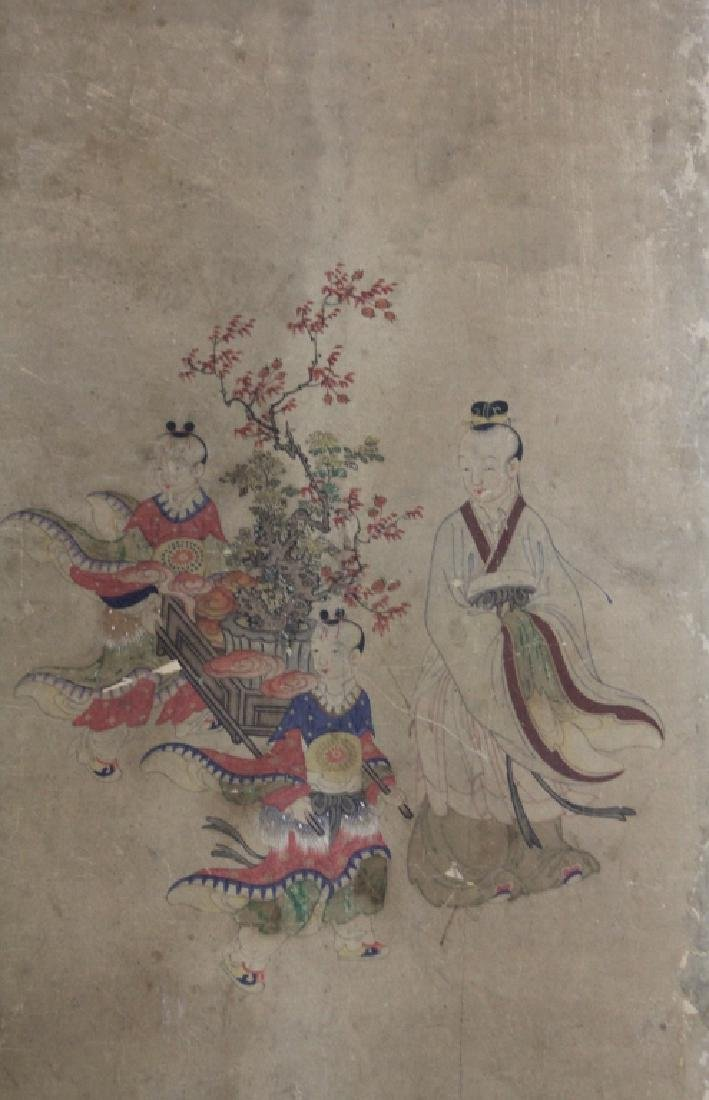 LOT OF (3) CHINESE 16TH CENTURY PAINTINGS - 4