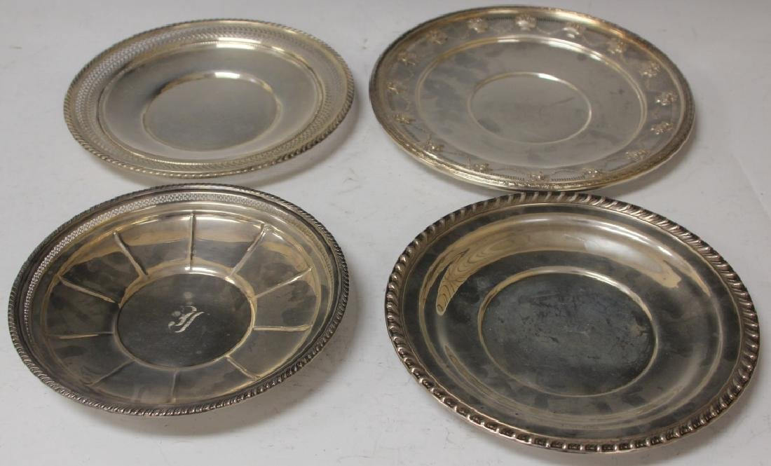 LOT OF (3) STERLING SILVER PLATTERS
