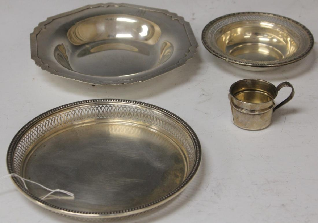 LOT OF (4) STERLING SILVER BOWLS AND CUP