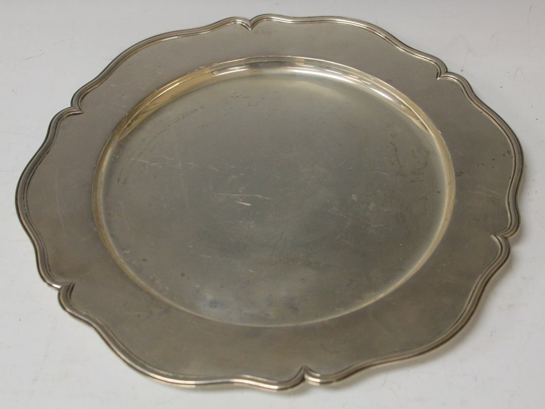 LOT OF (2) STERLING SILVER BOWL AND PLATE - 3