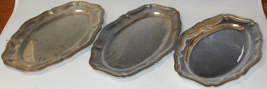 LOT OF (4) SILVER PLATED PLATTERS