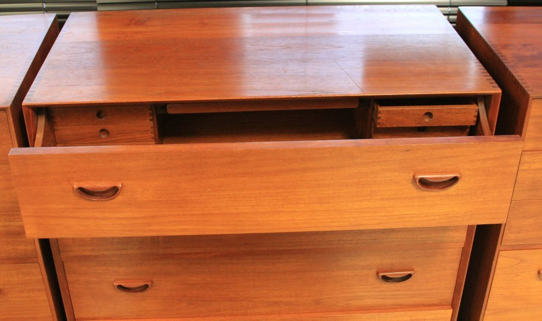 LOT OF (3) VINTAGE DANISH MODERN CHESTS, CONV. DESK - 2