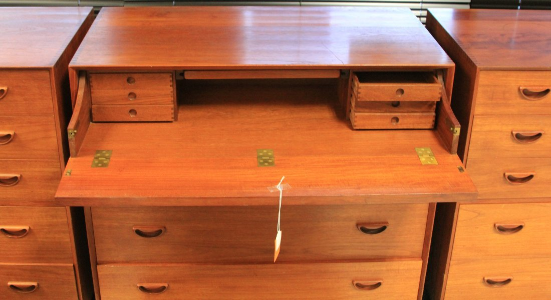 LOT OF (3) VINTAGE DANISH MODERN CHESTS, CONV. DESK - 3