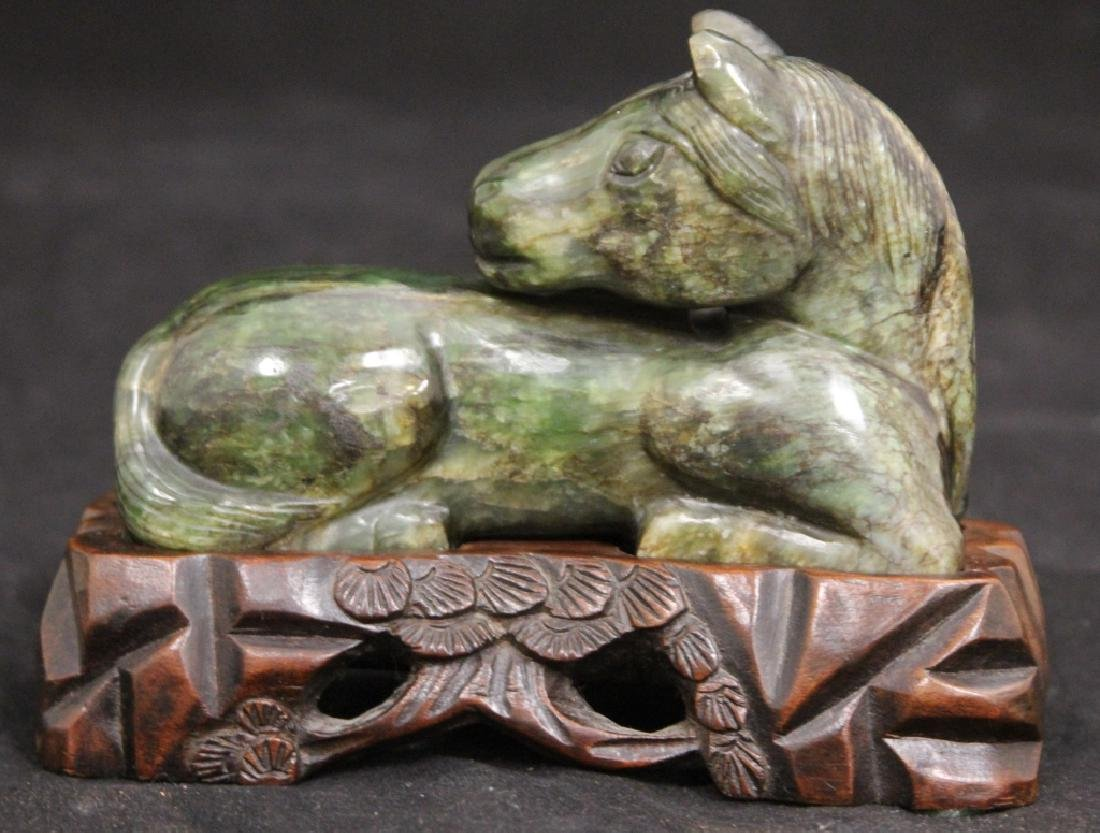 EARLY CHINESE CARVED HORSE