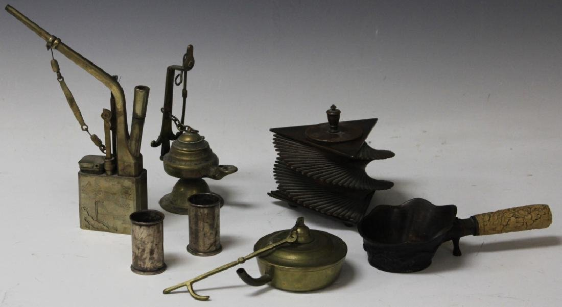 LOT OF (7) VINTAGE ITEMS, INKWELL